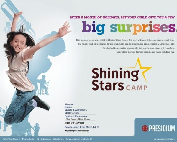 Presidium school shining star camps