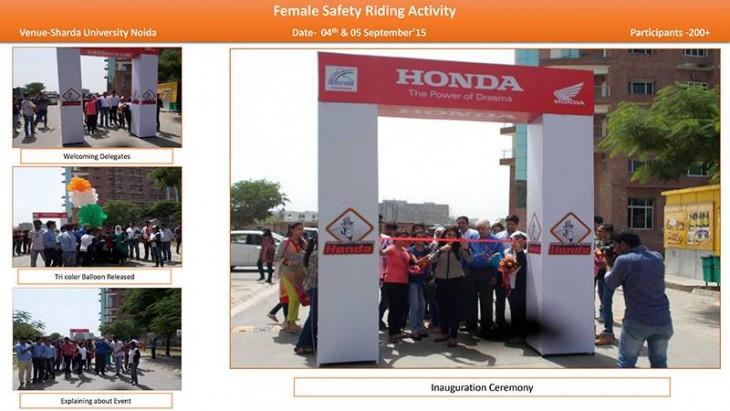 Sharda University held mega riding camp for women