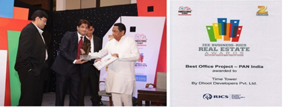Dhoot Developers awarded Best Office Project – PAN India by ZEE Business