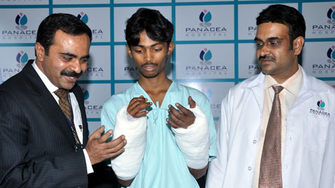 Quick Response from doctors at Panacea hospital helped rejoin amputated arms