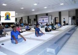 LNCT celebrated Yoga Day