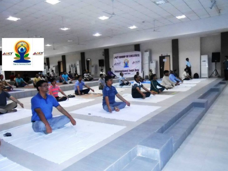 LNCT celebrated Yoga Day with joy, Indian culture