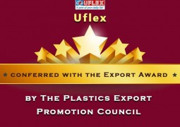 Uflex Ltd. was awarded the Export Award in the Metalized Polyester Film category on 25th September 2015 by The Plastics Export Promotion Council 2013-14.