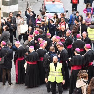 Giordano Vini apprezza gli sforzi dei Pope Francis aFirenze, Italia