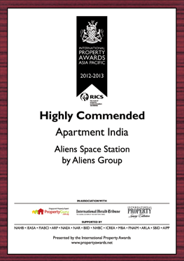 Aliens Group bags two International Property Awards at Asia Pacific Awards 2012