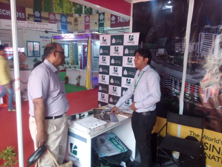Stall Aadhar Group at the 35th Trade Fair received overwhelming response