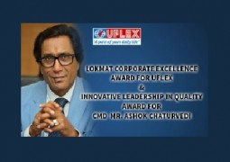 Ashok Chaturvedi, the Chairman & Managing Director of Uflex ltd., a prominent name in the innovative packaging industry was conferred the 'Innovative Leadership in Quality' Award.