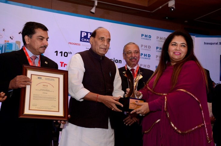 Monica Malhotra of MBD Group conferred with PHD Chamber's Outstanding Business Woman of the Year Award