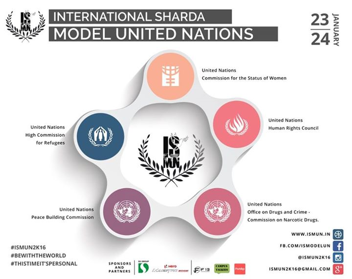The International Sharda Model United Nation Conference organized by Sharda University