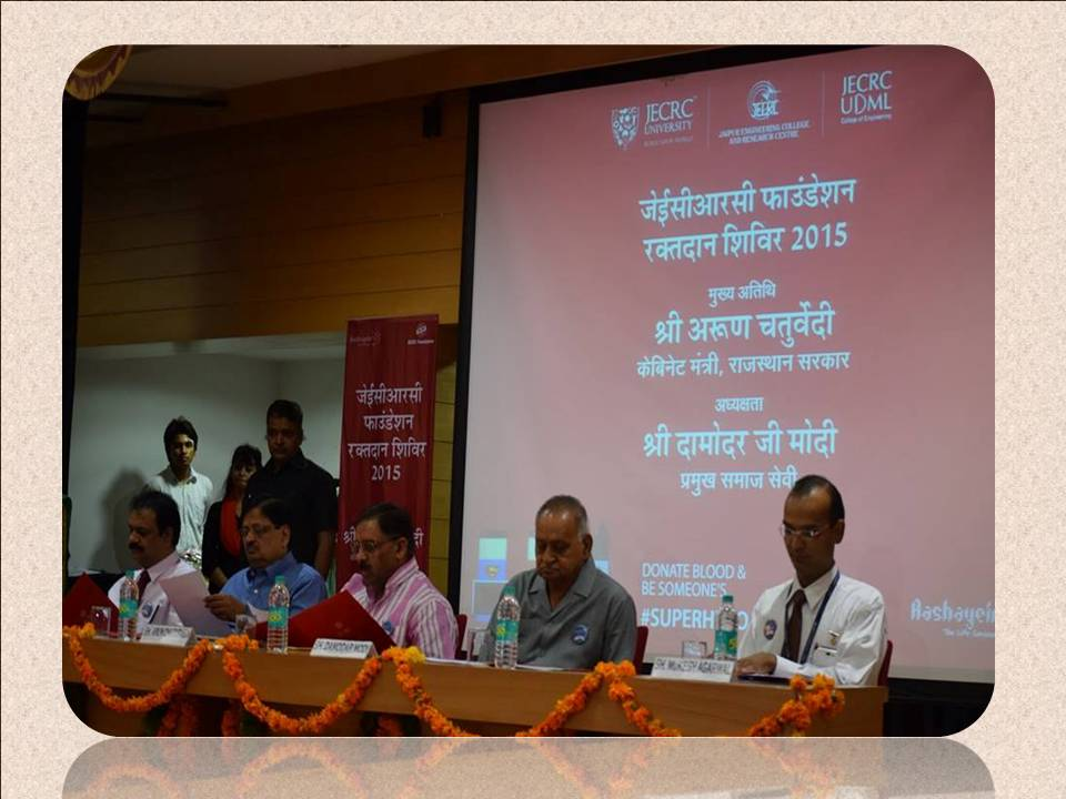 blood donation camp at jecrc