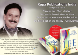 Subrata Roy's thoughts from Tihar unveiled as Life Mantrasin over 5,000 locations