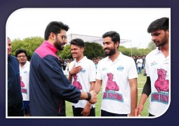 Jaipur Pink Panthers played a friendly match with JECRC students