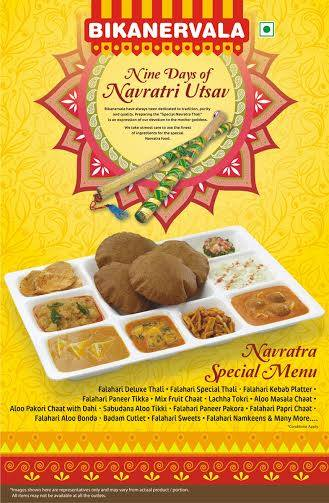 Bikanervala introduces Navrata special menu