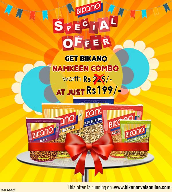Enjoy a spicy & crispy delight with exclusive Namkeen combos at Bikano
