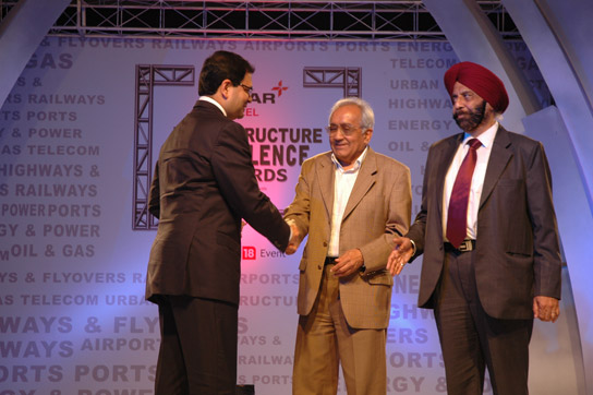 IRB Infrastructure Developers Ltd. conferred with CNBC TV 18 Essar Steel Infrastructure Excellence Award
