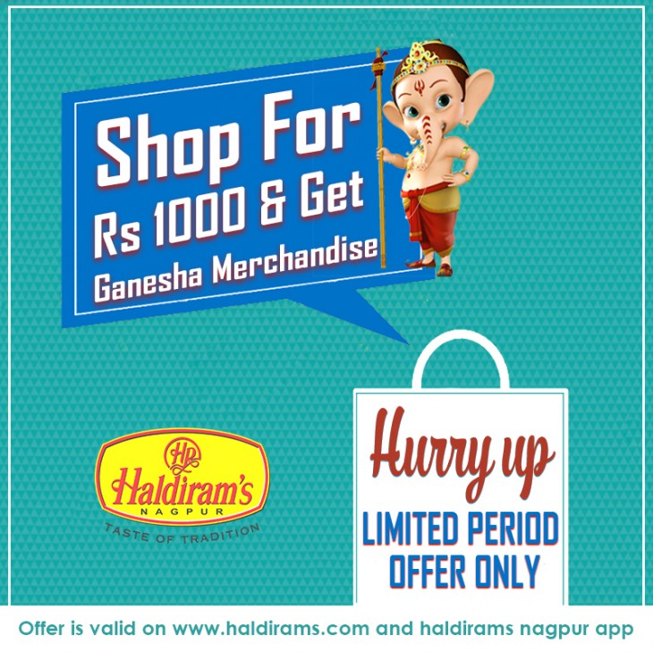 Grab the opportunity to win exciting Haldirams offer merchandise this Ganesh Chaturthi