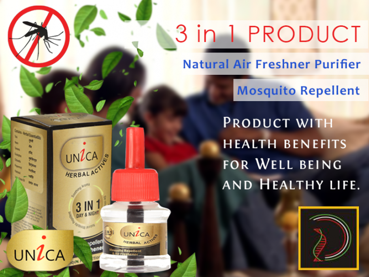 Next Generation Heath Care Mosquito Repellent- UNICA -with Bioactive Ingredients