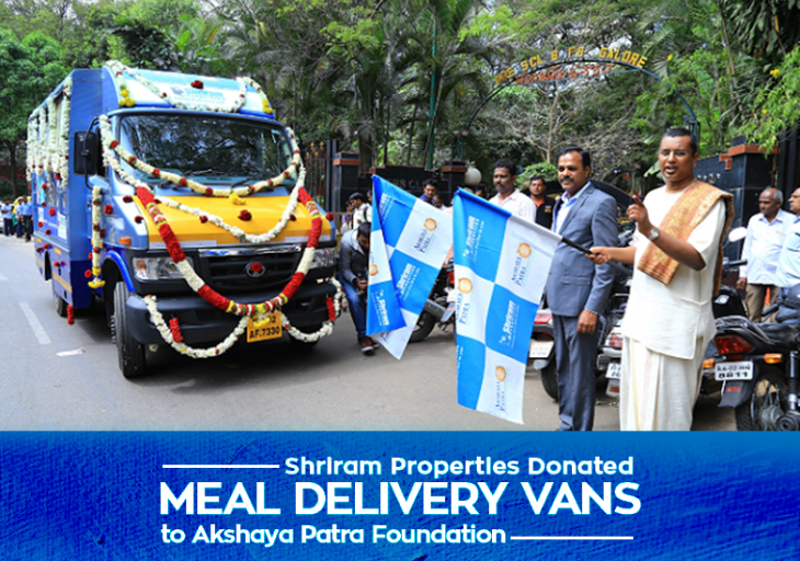 Shriram Properties Donated Meal Delivery Vans To Akshaya Patra Foundation.