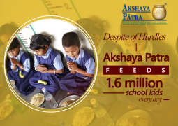 Despite of Hurdles Akshaya Patra feeds 1.6 million school kids every day