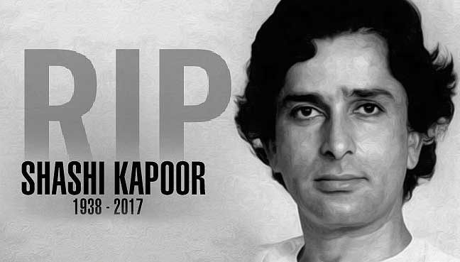 Legendary Actor Shashi Kapoor died at 79