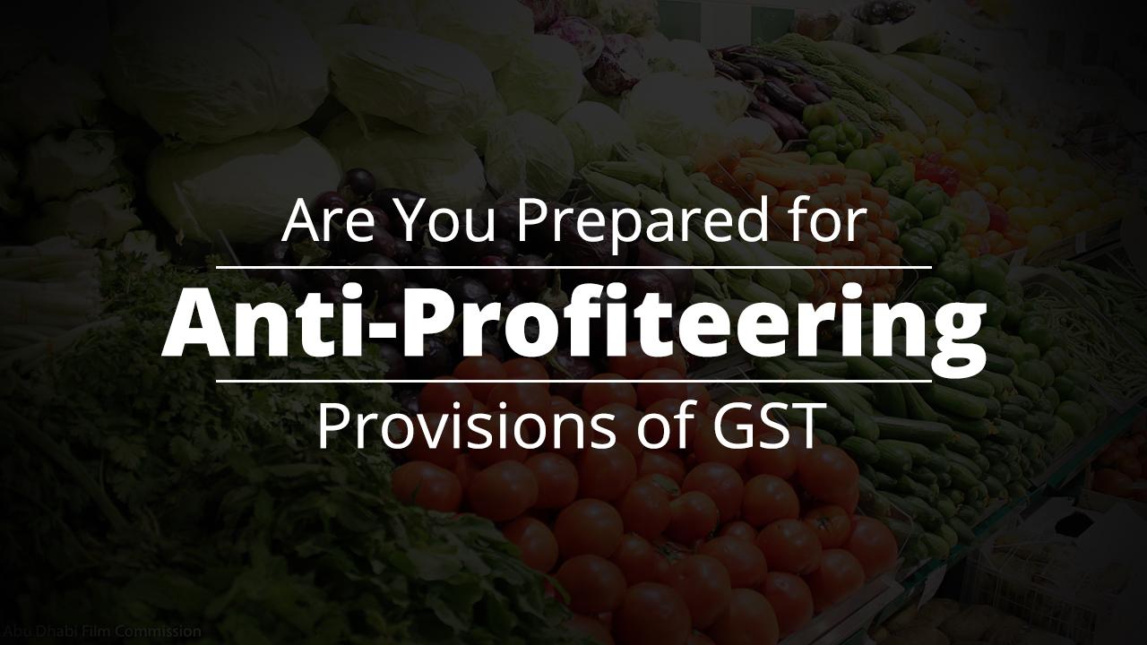 anti profiteering in GST