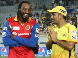 dhoni gayle